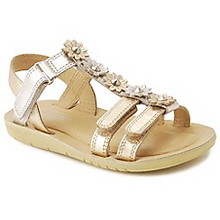 Start-rite - Metallic leather 'Soft Luna' infant sandals