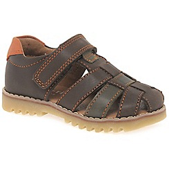 Start-rite - Brown leather 'Climb' Fisherman sandals