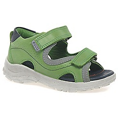 Ecco - Green 'peek-a-boo' boys first sandals
