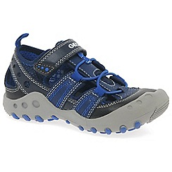 Geox - Boys' navy 'Junior Sandal Kyle' fisherman trainers