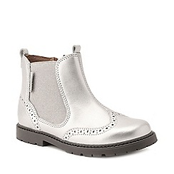 Start-rite - Girls' silver leather 'Chelsea' ankle boots