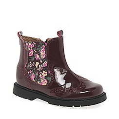 Start-rite - Girls' wine leather 'Chelsea' ankle boots