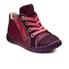 Ecco - Wine 'Mimic' zip girls high top trainers