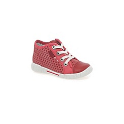 Ecco - Red 'frankie lace' girls trainers