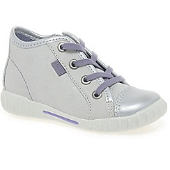 Ecco - White 'frankie lace' girls trainers