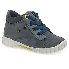 Ecco - Grey 'Sam' Lace Childrens Trainers