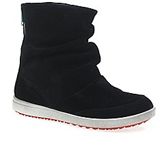 Ecco - Black 'Elli' girls suede boots