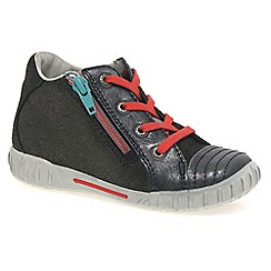 Ecco - Dark grey 'Mimic zip' girls first boots