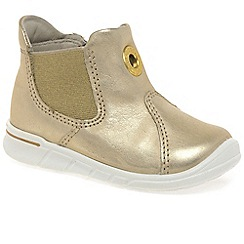 Ecco - Gold 'Malty Boot' Girls First Boots