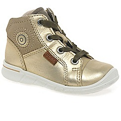 Ecco - Gold 'Nice Lace' Girls First Boots