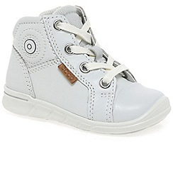 Ecco - White 'Nice Lace' Girls First Boots