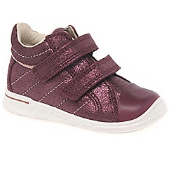 Ecco - Maroon 'Empire Riptape' Girls First Boots