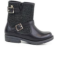 XTI - Black 'Stud II' girls black ankle boots