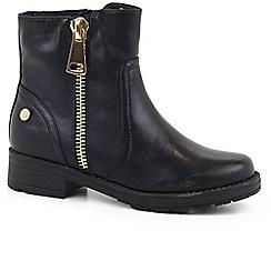 XTI - Black 'Zippy II' girls boots