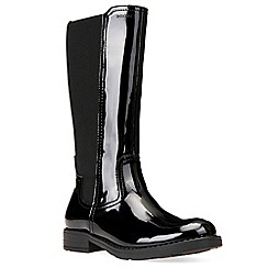 Geox - Girls' black patent leather 'Junior Sofia Elastic' boots