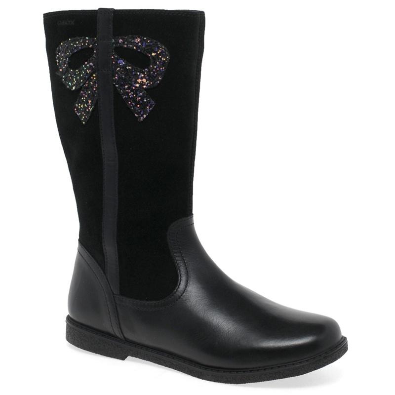 GEOX | Geox - Black Leather 'Junior Shawntel' Girls Boots | Goxip