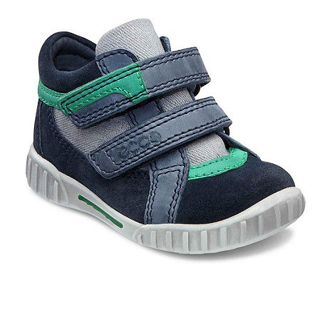 Ecco - Navy +Mimic+ riptape infant boys boots
