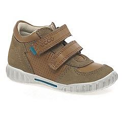Ecco - Brown 'Preston' Rip Tape Boys Trainers