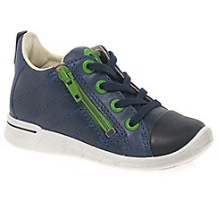 Ecco - Dark blue 'Digestive Zip' Boys First Boots