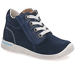 Ecco - Navy 'Jaffa Lace' Boys First Boots