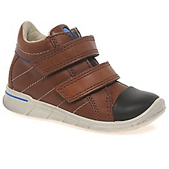 Ecco - Brown Empire Velcro Boys First Boots