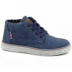 XTI - Navy 'Paul' boys navy blue chukka boots