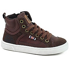 XTI - Brown 'Jonathan' boys high top trainers