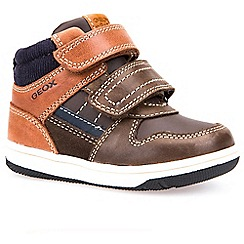 Geox - Baby boys' Brown leather New Flick' boots