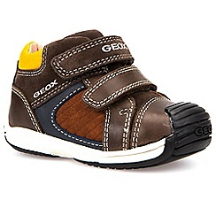 Geox - Baby boys' brown leather Toledo' double strap shoes