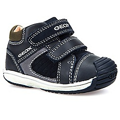 Geox - Baby boys' navy leather Toledo' double strap shoes