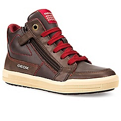 Geox - Boys' brown 'Junor Arzach' lace up ankle boots