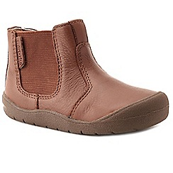 Start-rite - Boys' tan leather 'Chelsea' first boots