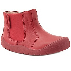 Start-rite - Boys' red leather 'Chelsea' first boots