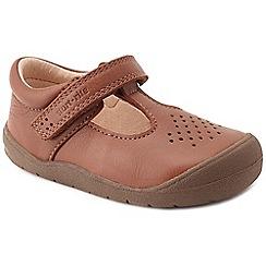 Start-rite - Boys' tan leather 'First Alex' T-bar shoes