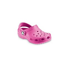 Crocs - Cerise 'kids classic' childrens sandals
