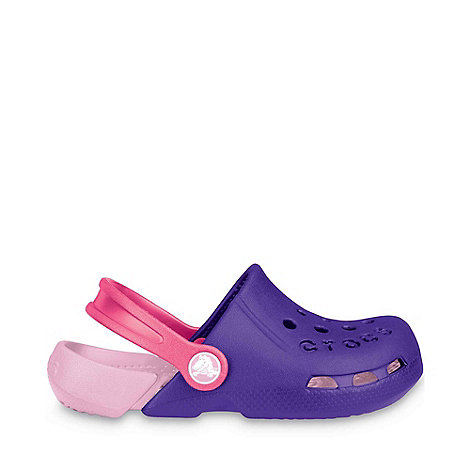 Crocs - Bright Purple +Electro+ Childrens Sandals
