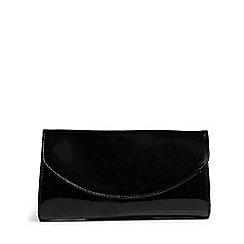 Van Dal - Black Patent 'Martina F' womens clutch bag