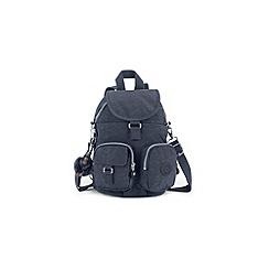 Kipling - Dark blue 'Firefly' canvas backpack