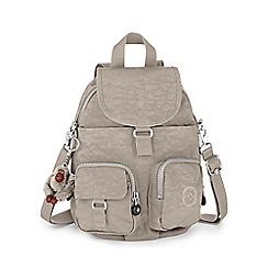 Kipling - Grey 'Firefly' canvas backpack