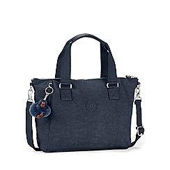Kipling - Dark blue 'Amiel' womens canvas handbag