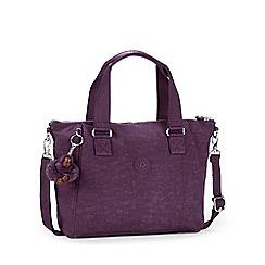 Kipling - Purple 'Amiel' womens canvas handbag