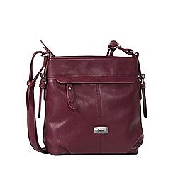 Gabor - Wine 'Lisa' womens messenger handbag