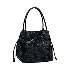 Gabor - Black 'Granada Flower' womens shoulder bag