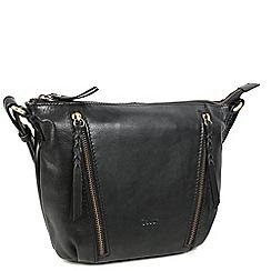 Gabor - Black leather 'inga' womens messenger handbag