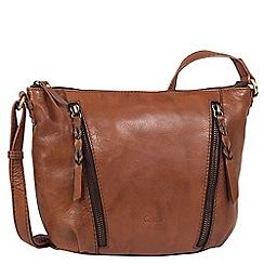 Gabor - Brown leather 'inga' womens messenger handbag