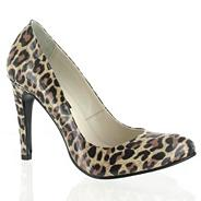 Leopard Patent Leather Court Shoe