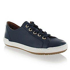 Marta Jonsson - Navy Leather Trainer