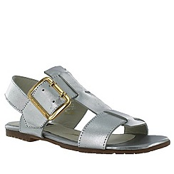 Marta Jonsson - Silver women's sandals with buckles
