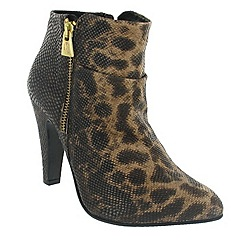 Marta Jonsson - Brown ankle boot with leopard pattern