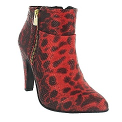 Marta Jonsson - Red ankle boot with leopard pattern